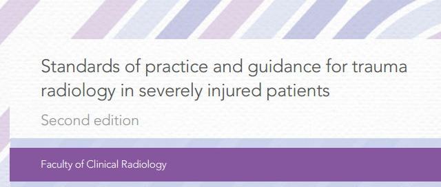 Standards 2015 for trauma radiology