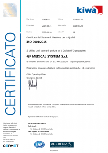 Certificazione ISO 9001:2015 del 2019
