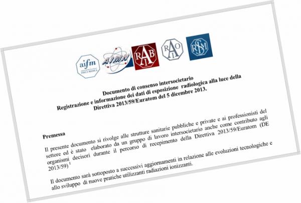 Registrazione e informazione dei dati di esposizione radiologica